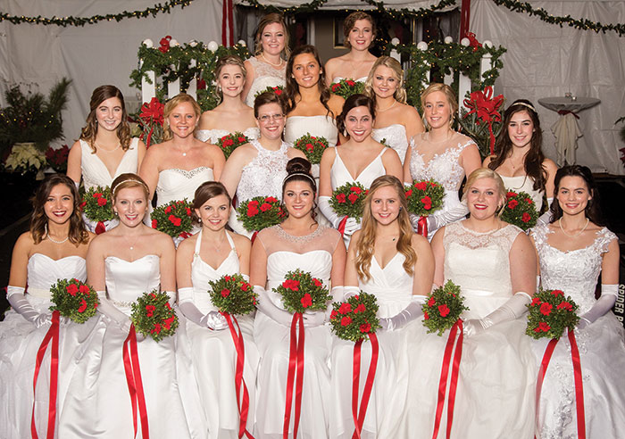 From left are (front row) Miss Alexandra Nicolle Clayton, Miss Macy Stuart Swift, Miss Korty Beynton Swift, Miss Virginia Elizabeth Eanes, Miss Elizabeth Yoer Hyde, Miss Tyler Noelle Martin and Miss Mary Kathryn Hall; (next row) Miss Skylar Naomi Dixon, Miss Micaela Ann Wilson, Miss Kayleigh Rose Webster, Miss Abby Augustyn Nelson, Miss Lauren Leigh Shores and Miss Burgess VanLoan Edson; (next row) Miss Caroline Julia Beck, Miss Emily Shillington Carden and Miss Brittney Rochelle Warwick; (next row) Miss AnnGardner Eubank and Miss Elizabeth Baylor Ellis. Photo by Yours Truly Photography