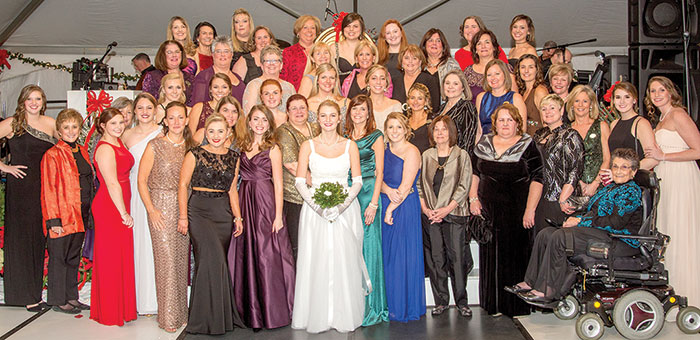 Many past debutantes attended the 121st Holly Ball. Photo by Yours Truly Photography