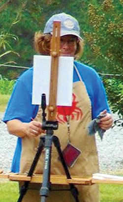 Daphne Benton pursues plein air painting.