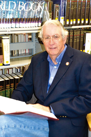"""An avid reader, George E. """"Sonny"""" Thomas will have plenty of time for reading now that he has stepped down as Commissioner of the Revenue. Thomas is a longtime member of the Lancaster Community Library."""